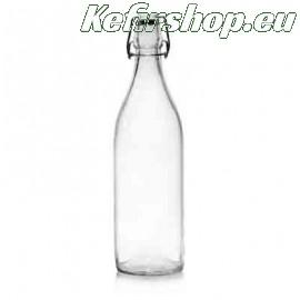 Glazen fles met beugelsluiting 1 liter