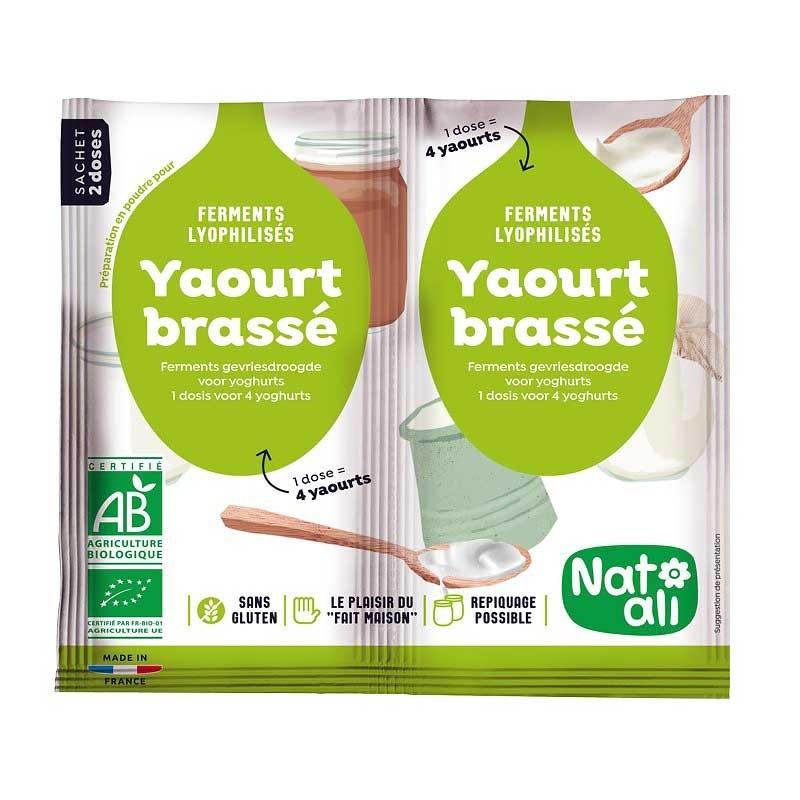 Starterpakket roeryoghurt ferment 2 zakjes - 2x6g - Bio - Natali