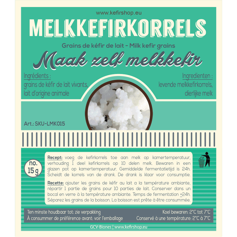 Levende melkkefirkorrels 15 gram - groeit verder