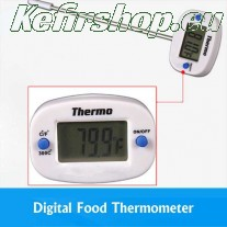 Digital cooking thermometer with metal probe