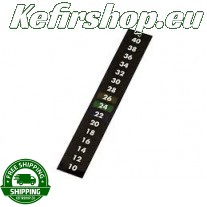 Self-adhesive thermometer strip 10 - 40°C