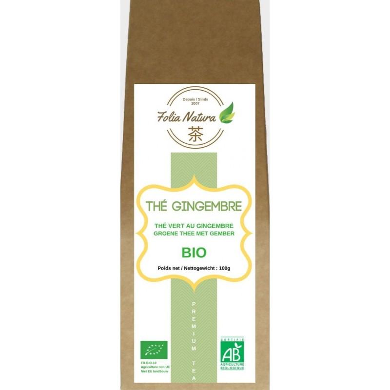 Organic Green tea ginger 100g