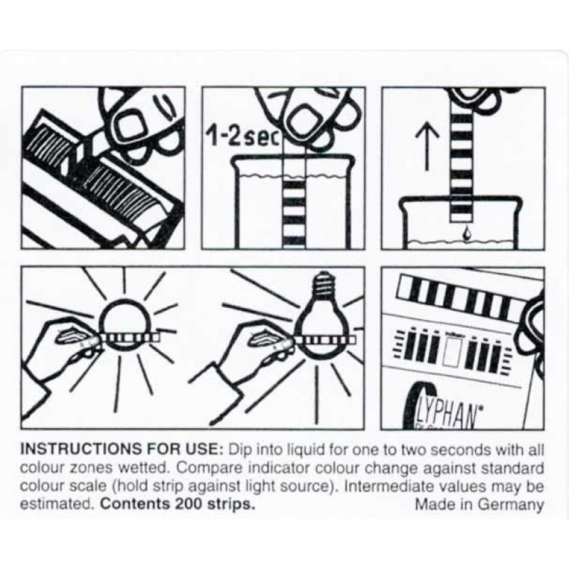 Special indicator paper - simple instruction
