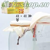 8 sacs réutilisables en coton BIO Légumes volumineux - Taille XS