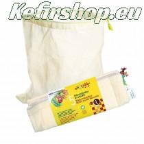 5 herbruikbare zakken van biologisch katoen