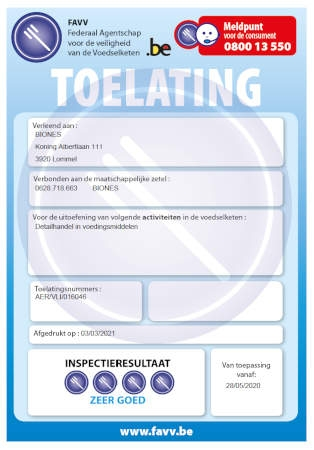 FAVV-toelating