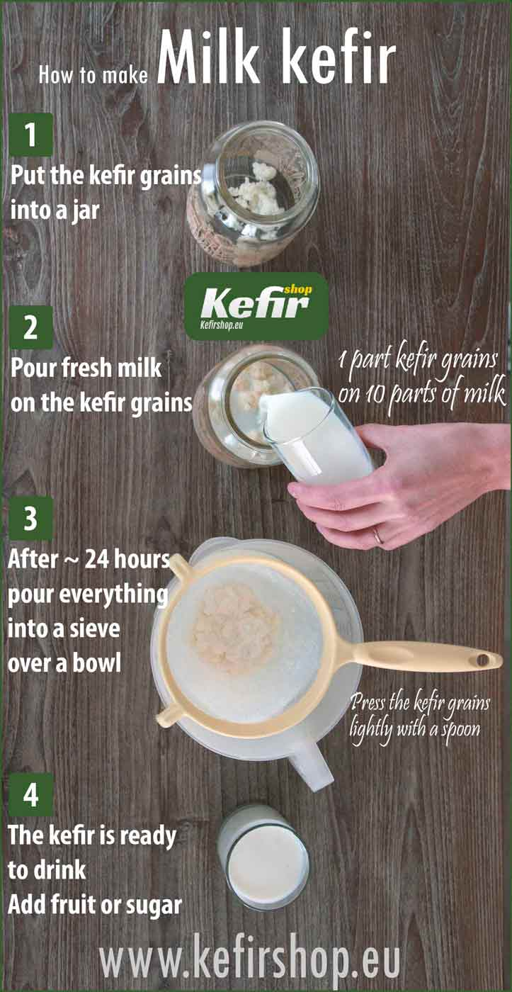 Milk kefir - short instruction