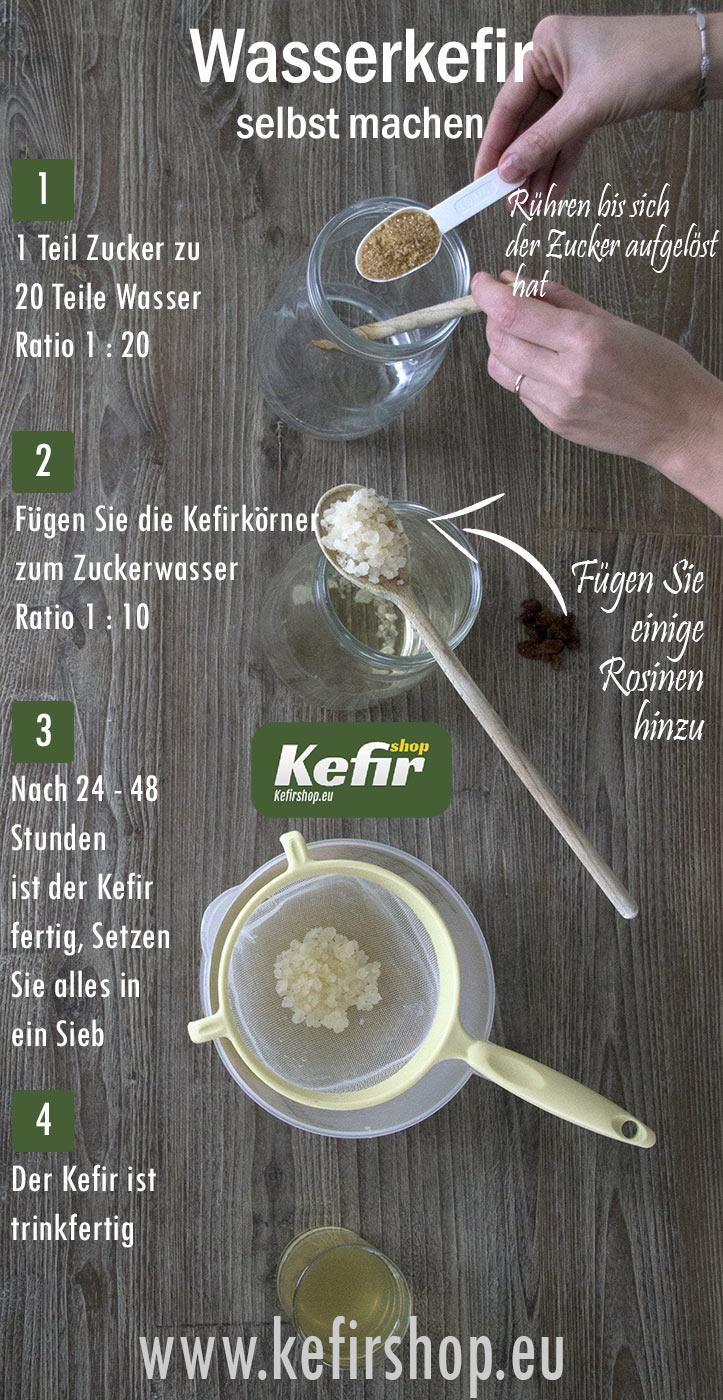 WasserKefir selbst herstellen mit kefirknollen